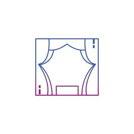 Isolated theatre line gradient design Foto de archivo - 133722742