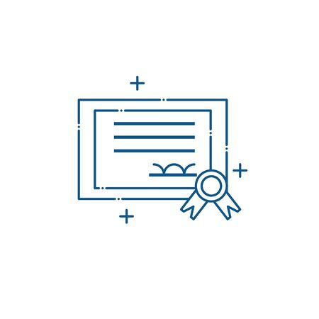 Isolated certificate paper icon line design