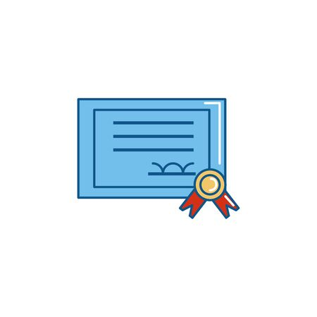 Isolated certificate paper icon fill design