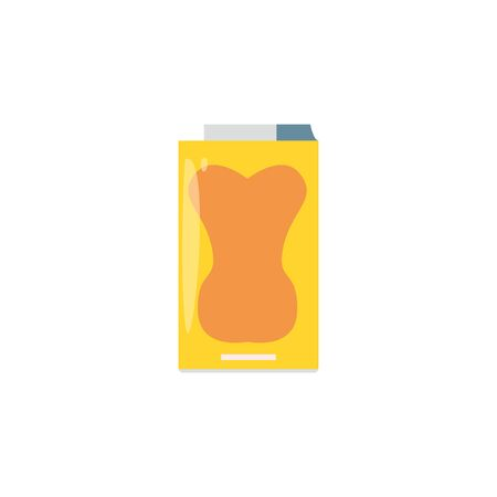 Isolated drink box icon flat design Иллюстрация