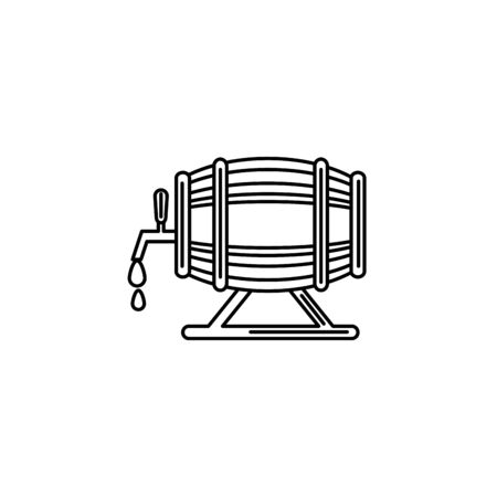Isolated beer barrel icon line design