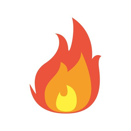 fire flame flat style icon Illustration