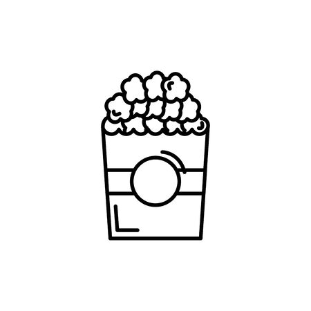 Isolated pop corn icon line design Ilustrace