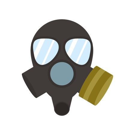 firefighter mask flat style icon