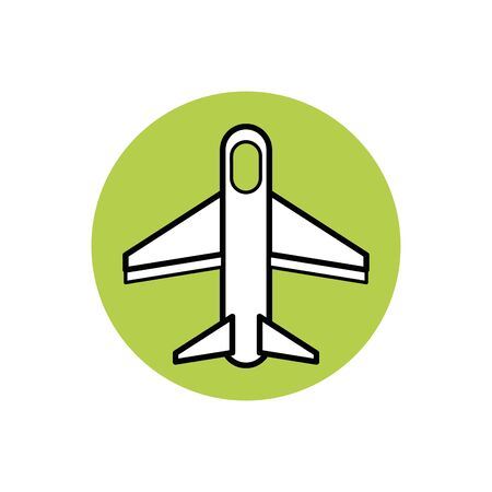 Isolated airplane icon block design Illusztráció