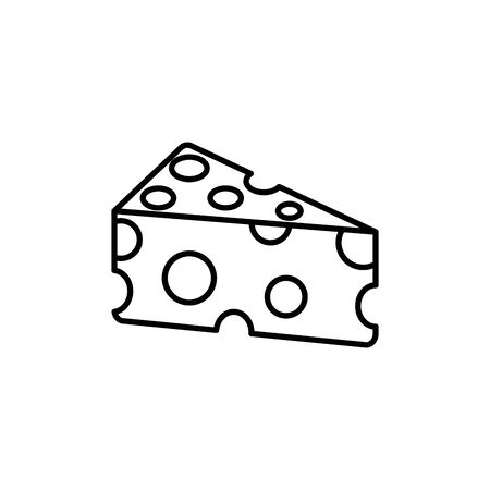 Isolated cheese icon line design