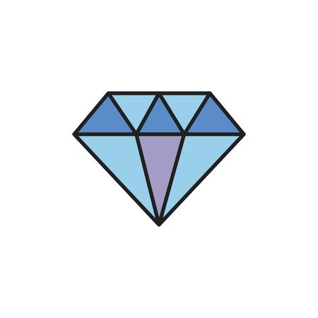 Isolated diamond icon fill design Illusztráció