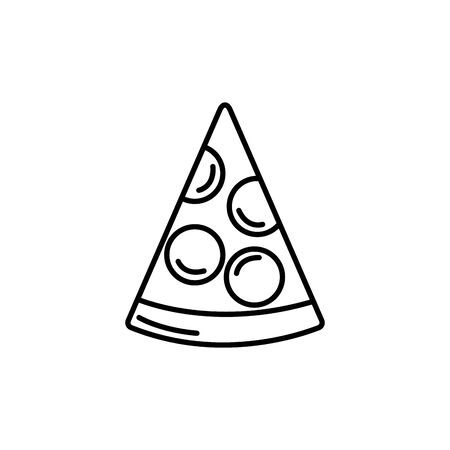 Isolated pizza icon line design
