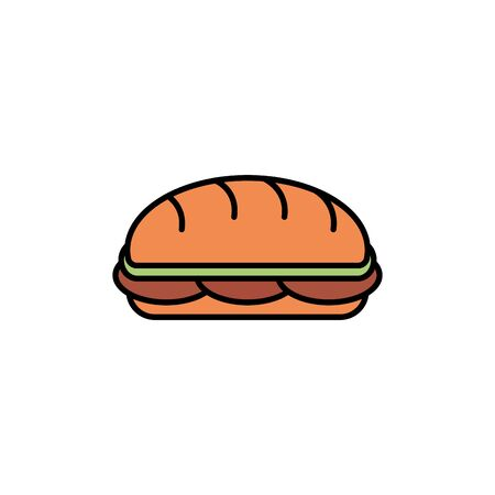 Isolated sandwich icon fill design
