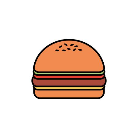 Isolated hamburger icon fill design