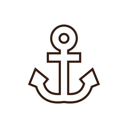 Isolated anchor icon line and fill vector design Illusztráció