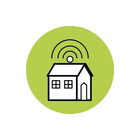 future house icon block design Illusztráció
