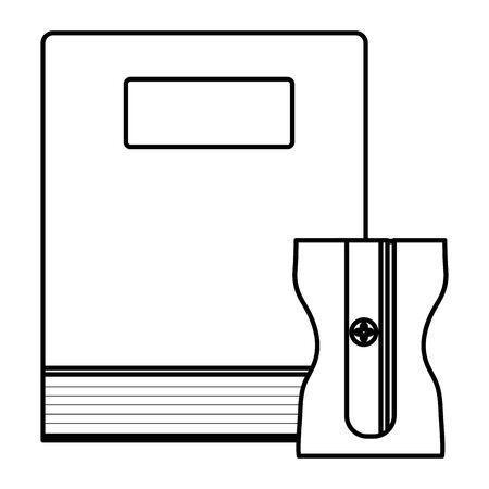 text book school with sharpener Illusztráció