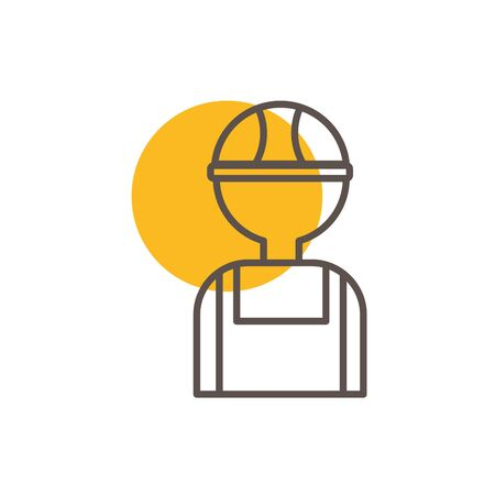 Isolated construction builder line design Ilustrace