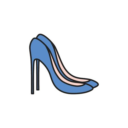 Isolated heels icon fill design
