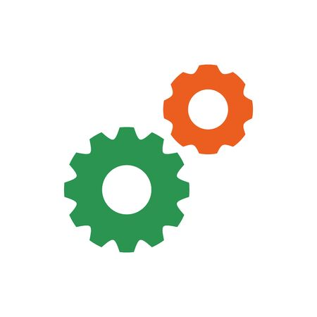 Isolated gear icon flat design