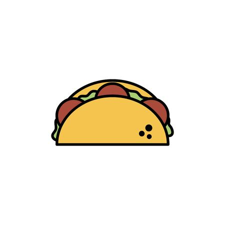 Isolated tacos icon fill design Ilustrace