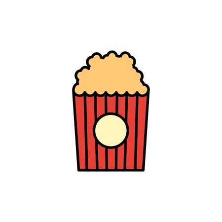 Isolated pop corn icon fill design Иллюстрация