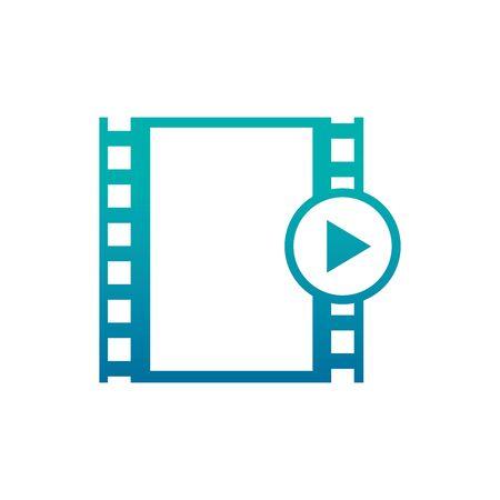Isolated cinema tape gradient design Foto de archivo - 133723148