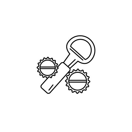 Isolated bottle opener icon line design