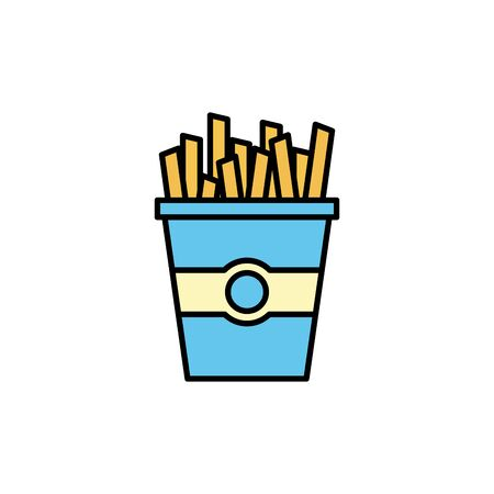 Isolated french fries icon fill design