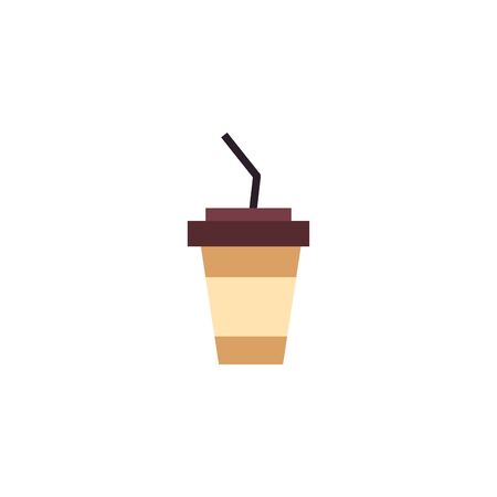 Isolated coffee mug icon flat design