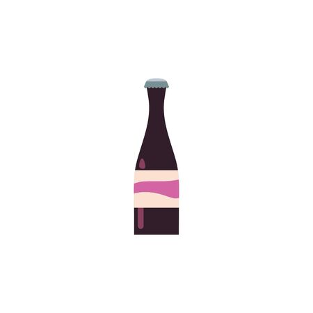 Isolated drink bottle icon flat design