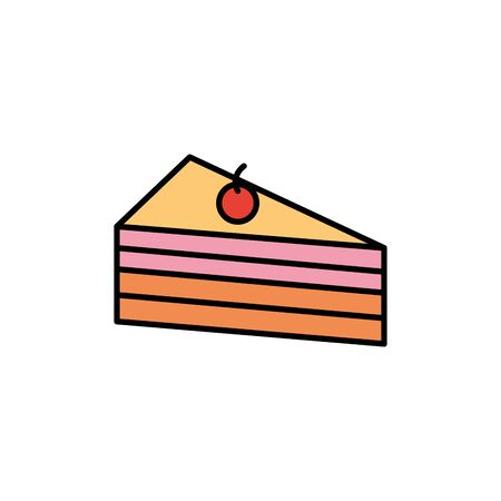 Isolated sweet cake icon fill design Stock fotó - 133723234