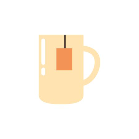 Isolated tea mug icon flat design