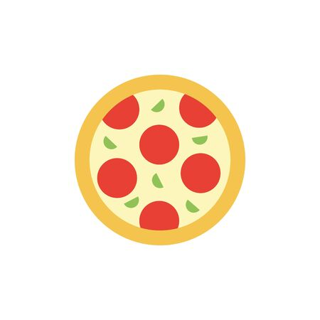 Isolated pizza icon flat design
