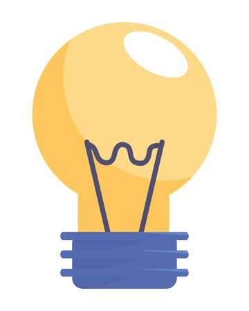 Isolated electric light bulb design vector illustration