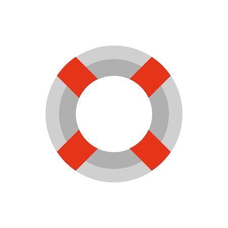 Isolated safe float icon flat design