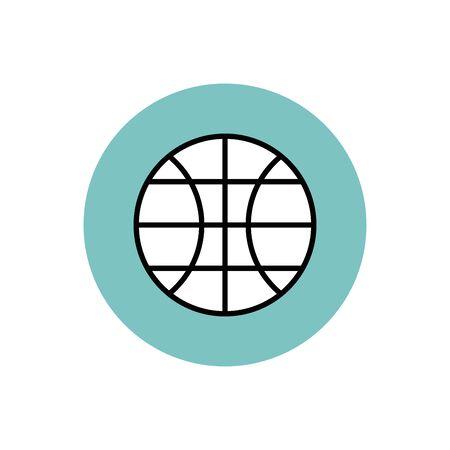 Isolated ball of basketball block design 일러스트