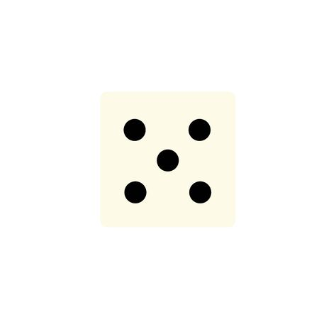 Isolated casino dice icon flat design