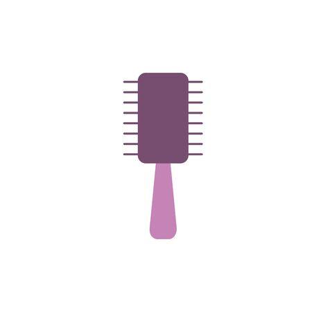 Isolated hair brush icon flat design Çizim