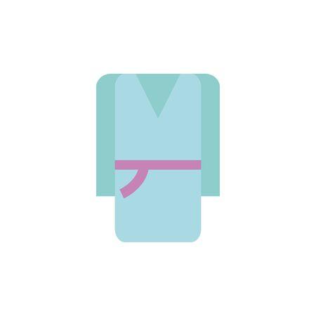 Isolated spa cloth icon flat design Çizim