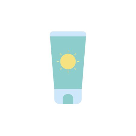 Sun cream icon design, beauty fashion style glamour care healthy and feminity theme Vector illustration