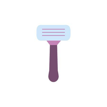 Hair razor icon design, beauty fashion style glamour care healthy and feminity theme Vector illustration