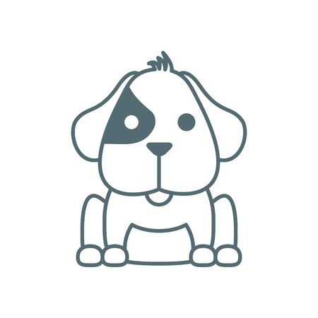 cute little dachshund dog line style icon