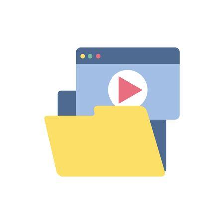website video file school education learning flat style