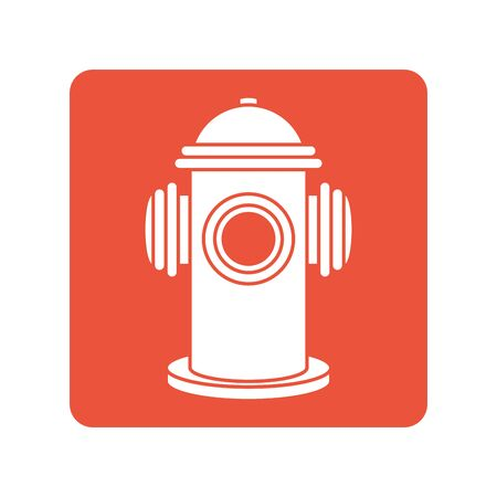 fire hydrant block line style icon
