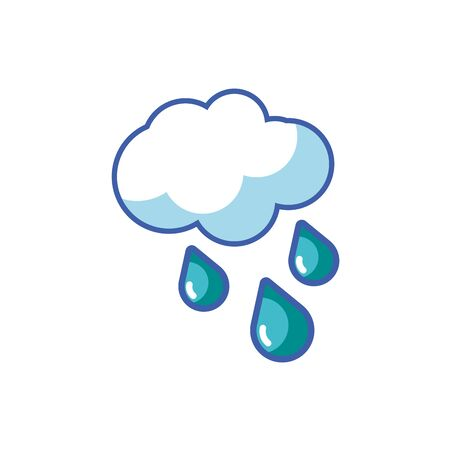 Isolated cloud and rain icon vector design