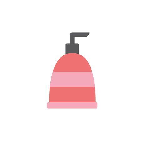 Isolated liquid soup icon flat design Çizim