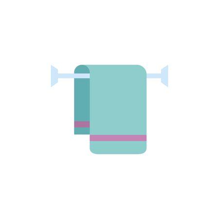 Isolated towel icon flat design