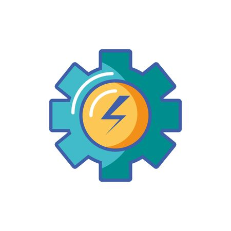 Isolated powerplant icon fill design