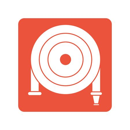 fire hose block line style icon