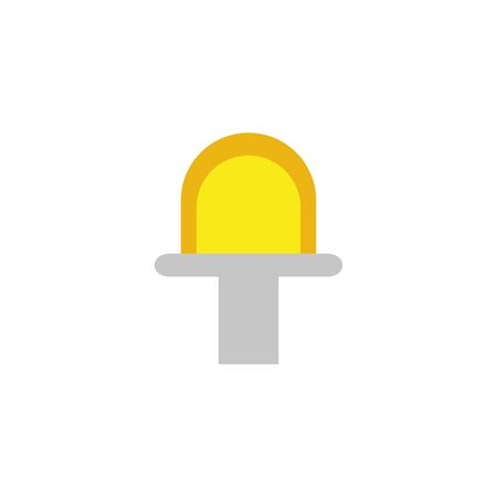 flashing siren energy electricity light flat icon