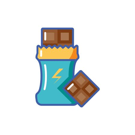 Isolated energetic chocolate fill design  イラスト・ベクター素材