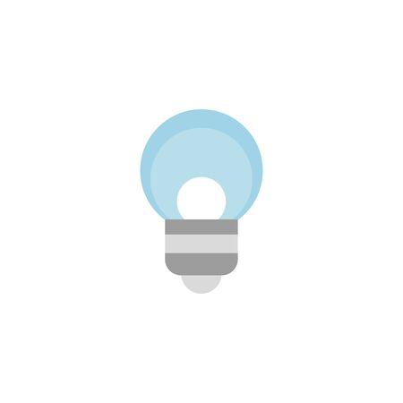 blue bulb energy electricity light flat icon