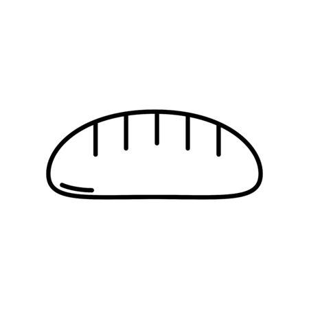 Isolated bread icon line design